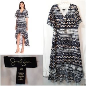 Jessica Simpson Hi Low Wrap Dress